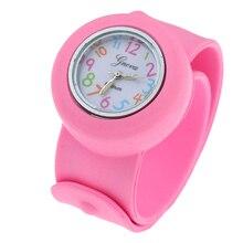 Gnova Платиновый силикон шлепки на детей часы спортивные наручные для мальчиков и девочек Crazy Numbers маленький циферблат модный детский подарок A943