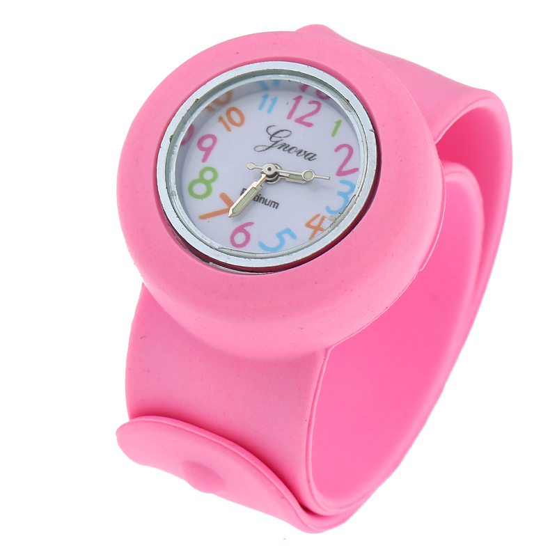Gnova Platinum Silicone Slap On Kids Watch Sport Wristwatch Boys Girls Crazy Numbers Small Dial Fashion Children Gift A943