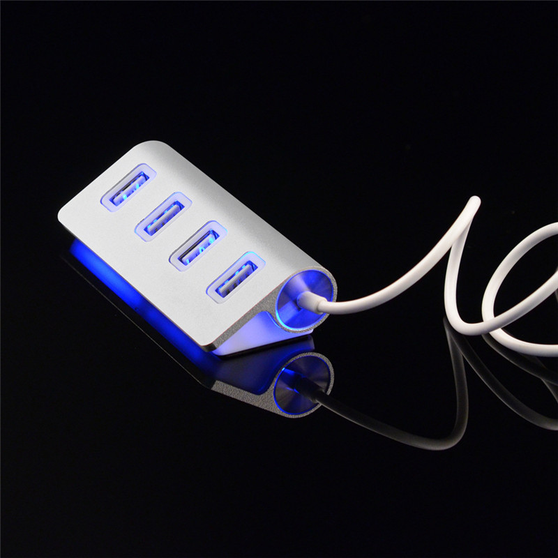 все цены на Multi 4 Ports High Speed USB Hub 2.0 480Mbps Hab USB Mini Cool Light High Quality USB Hub For Multi-device Computer