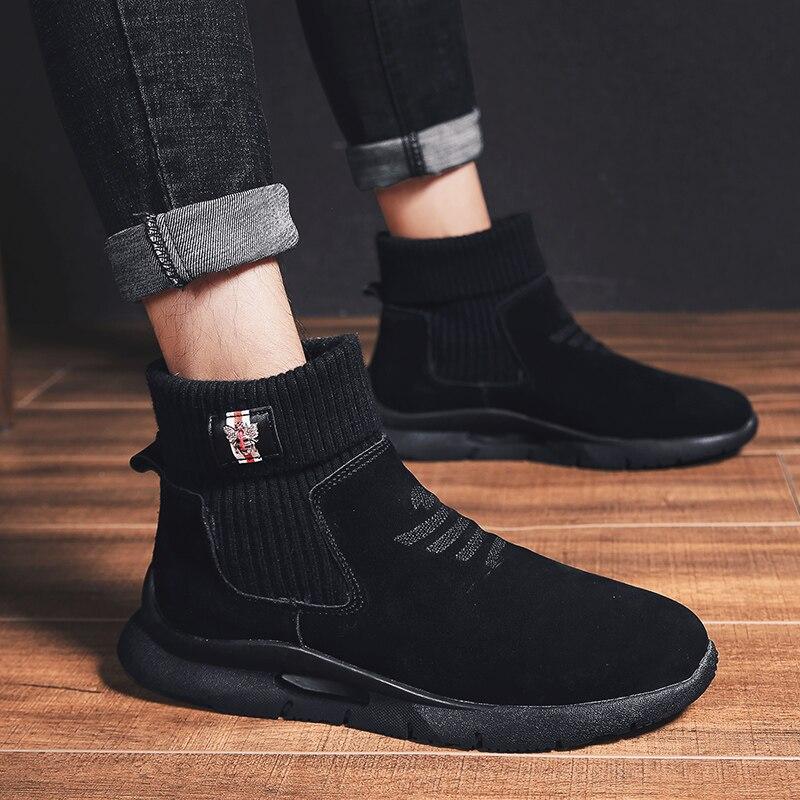Qualité Uomo Sport Bottes gris Hombre Scarpe Haute D'hiver Northmarch Confortable Chaussures Invernali Hommes Chaud De Noir Cheville Botas f7qB0xxnzg
