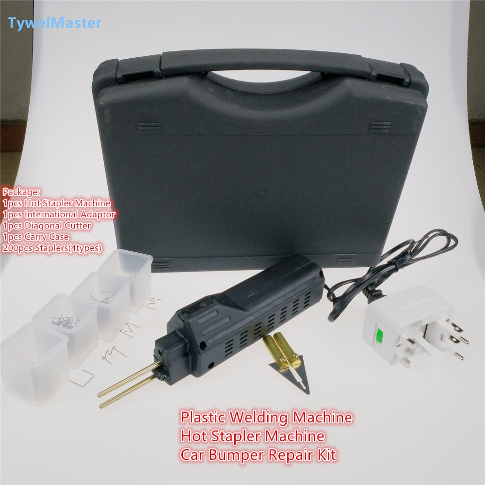 Professional Hot Stapler Plastic Repair System Welding Gun Bumper Fairing Auto Body Tool Plastic Welder Staple hot stapler smart repair replacement staples kit hs 013xf