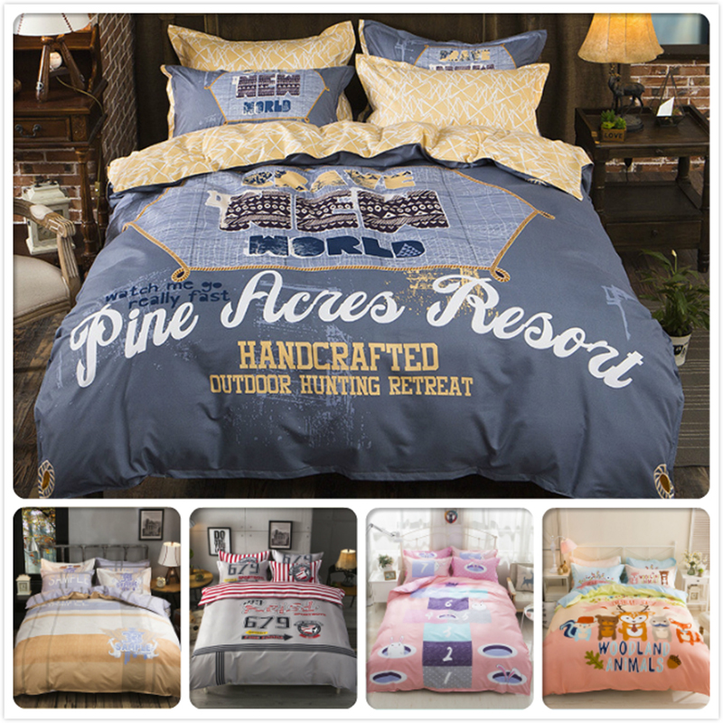 High Quality 3/4 pcs Bedding Set Kids Single Double Twin Queen King Size Duvet Cover 1.5m 1.8m 2m Bedsheet Bed Linens Bedclothes