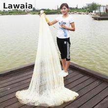 Высокая LAWAIA 4м рыболовная сеть Рыбалка литые сетей Моноволокна сетки 5см Литой чистый нейлон рыболовная сеть сетка оцинкованная кулон