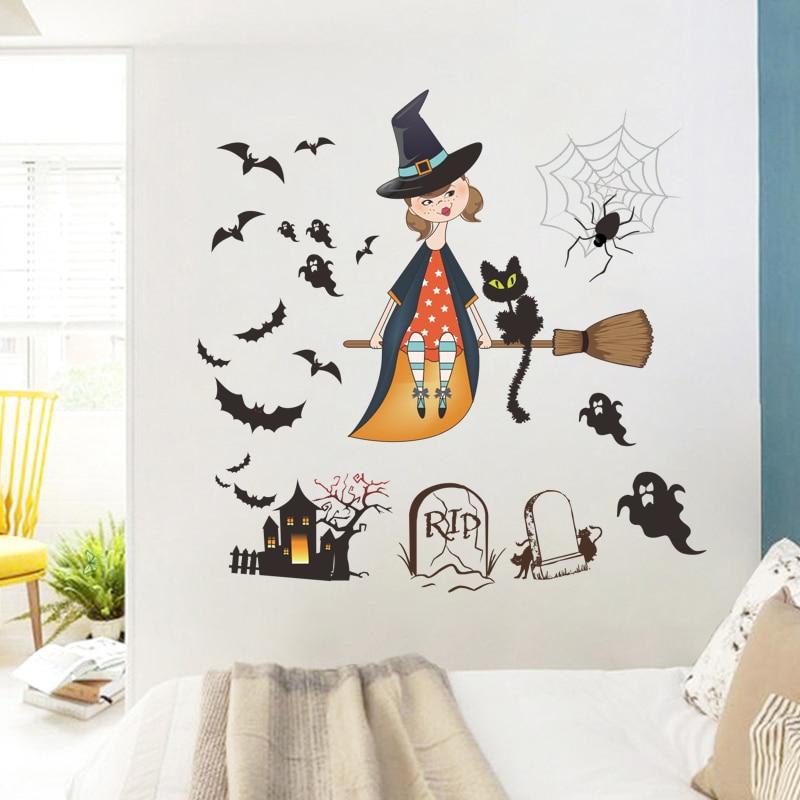 Online get cheap halloween posters for Cartoon wall mural