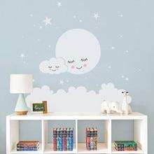 Moon Stars Decal Wall Stickers For kids Room Nursery