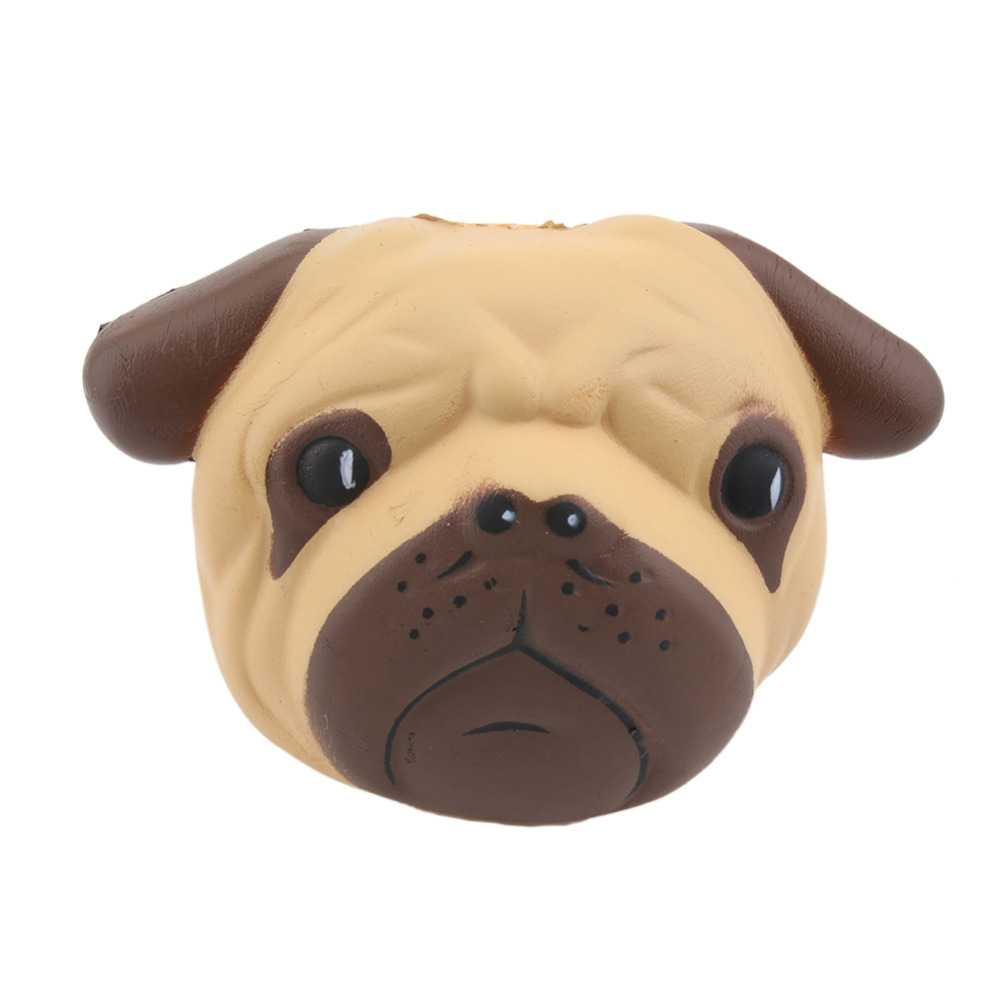 Antistress Pug Dog Ball Mini Squeeze Toys Slow Rising 8cm Stretchy Animal Healing Anti Stress Squeeze Toy Nice Gift