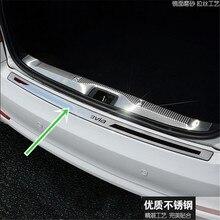 цена на For Skoda Octavia 2007-2013 A5 Stainless Steel Rear Trunk Bumper Protector Rear Scuff Plate Rear Door Sill