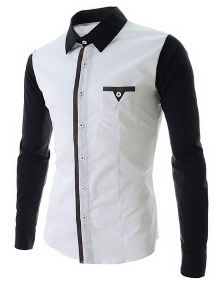 Mens White And Black Shirt Custom Shirt