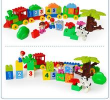 Original HUIMEI Brand Big Blocks Number Train Building Set Compatible with Legoed Duploe Educational Toys DIY Baby Toys