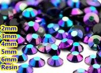 Jelly Sapphire AB Kolor 2mm, 3mm, 4mm, 5mm, 6mm Aspekty Płaskie powrót Żywica Rhinestone Gems Nail Art Dekoracje, Odzieży dżetów