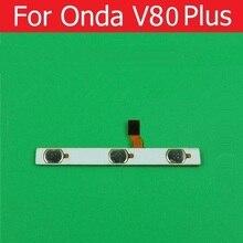 Original interruptor de encendido apagado y botón de Volumen Flex cable De Onda V80 más 8.0 botón lateral de volumen y encendido de repuesto flex cable