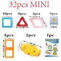 32 PCS Ímã Mágico Crianças Brinquedos Educativos Tijolos Para Crianças Educacionais Blocos de Construção DIY Fantasia Conjuntos de Kits de Brinquedos Do Jogo