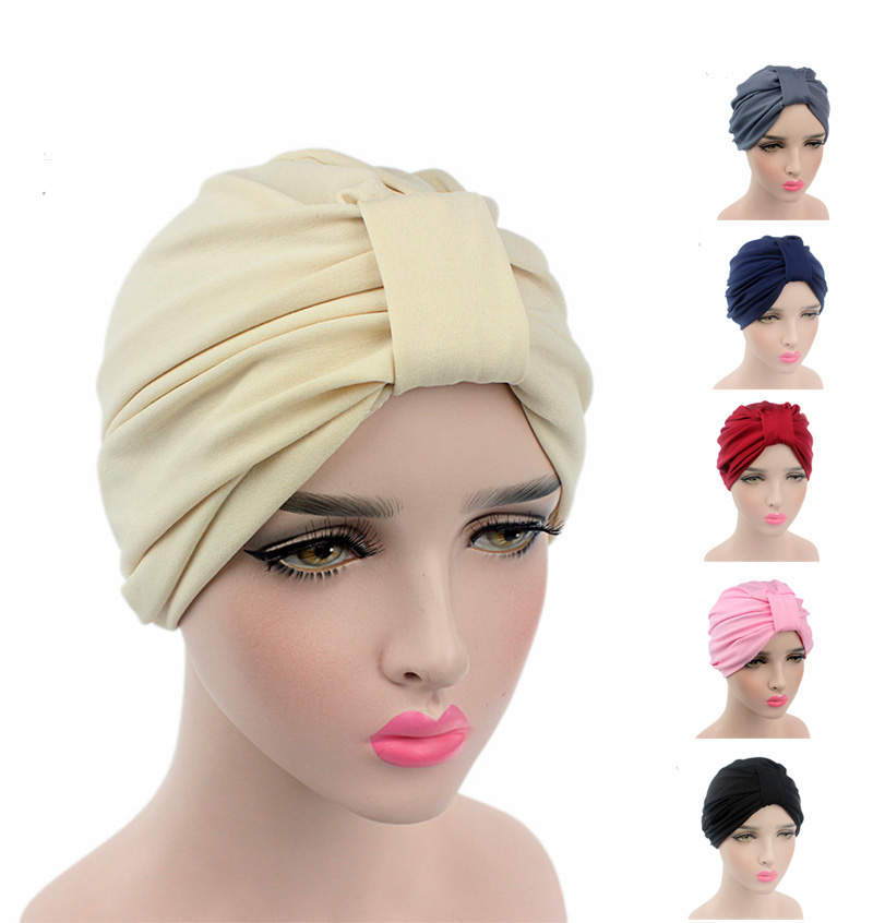 2016 New Fashion Women stretchy cotton turban dome cap head wrap Hijab Hair Loss Cancer Head Scarves Chemotherapy Alopecia Caps