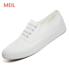 MEIL Vulcanized Men shoes fashion black/white loafers canvas man breathable sneakers men vulcanize