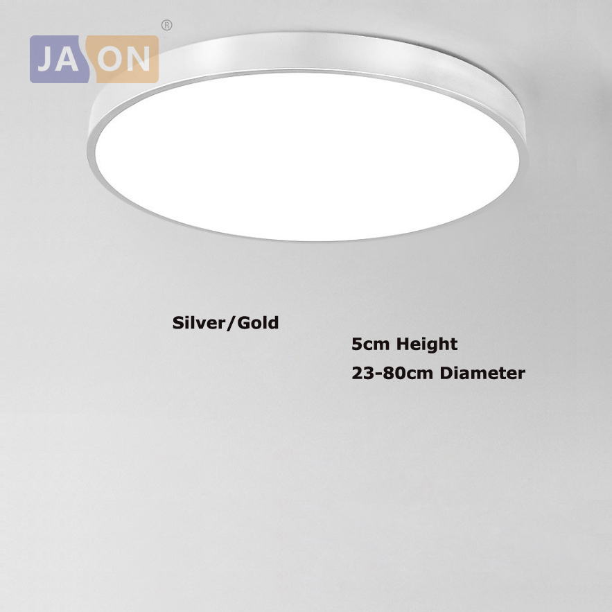 Ceiling Lights & Fans Led Modern Acryl Alloy Silver Round 5cm Super Thin Led Lamp.led Light.ceiling Lights.led Ceiling Light.ceiling Lamp For Foyer
