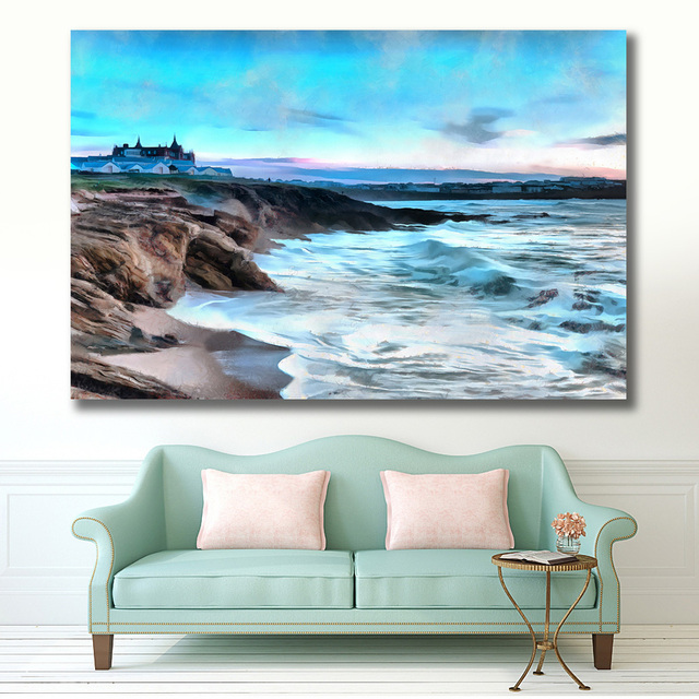 Embelish 1 Pc Large Size Stormy Seas Landscape Wall Art Poster For Living Room Modern Home