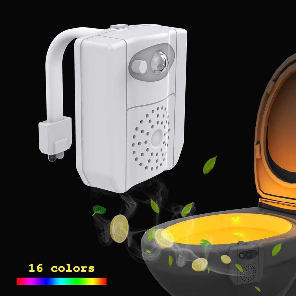 Inteligentny czujnik ruchu PIR deska klozetowa UV, noc, lekki 16 kolorów wodoodporny podświetlenie wc miska 8 kolory normalne LED Nightlight