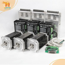 Wantai 3 оси Nema34 шагового двигателя WT86STH118-6004A 8.7N.m 1232 унц. 5.6A+ драйвера DQ860MA 80 В 7.8A 256 микро+ мощность supplyLaser ЧПУ комплект