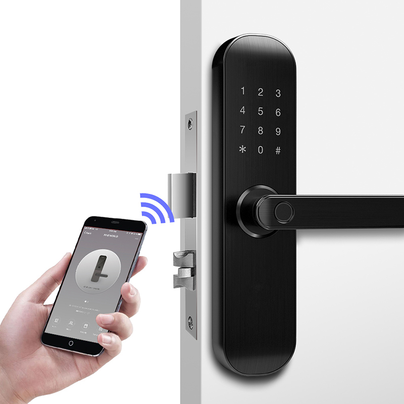 TUYA Smart Door Lock Digital Code Biometric Fingerprint Lock with WiFi Smart Life App-in Electric Lock from Security & Protection    2