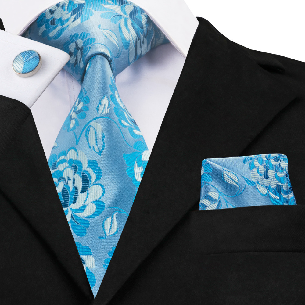 Aliexpress.com : Buy C 1393 Light Blue Floral Ties For Men ...