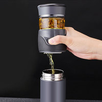 2019 Tea Thermos With Filter Stainless Steel Vacuum Flask Portable Car Sport Insulated Heat Water Bottle Tea Cup For Men 081
