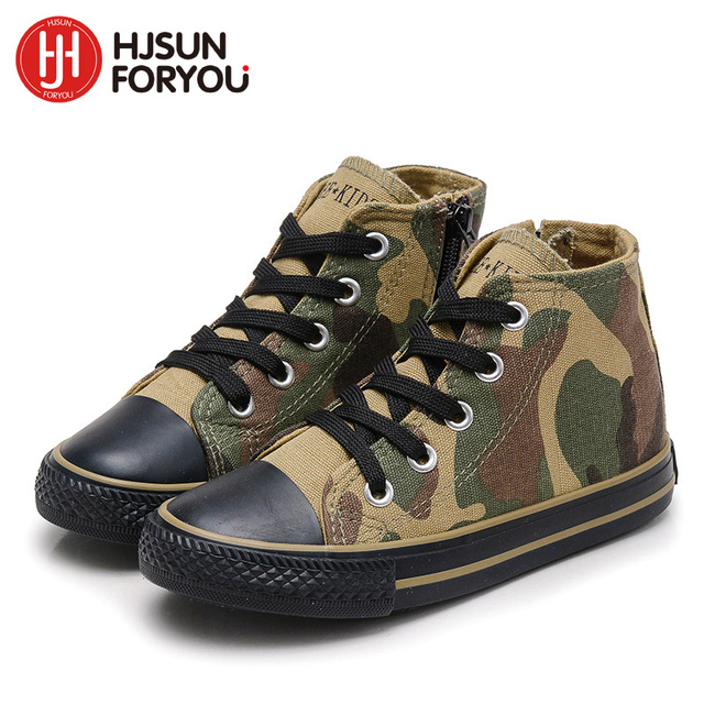 2019 Canvas Children Shoes Sport Breathable Boys Sneakers Brand Kids Shoes  for Girls Fashion Camouflage Casual Child Flat Boots 0b13577ac79