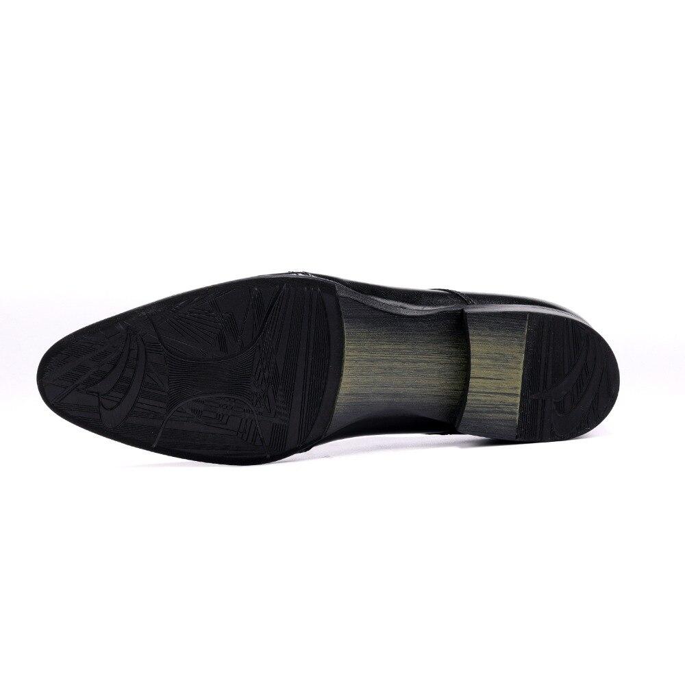 Dedo Cielo De azul Oxfords Del Pie Para Puntiagudo Clorisruo Negro Negocios Cuero Zapatos Novio Hombre Genuino Vestir Formal Boda Uq5TwXWxWP