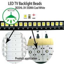 YONGYUEKEJI 100pcs/lot new led tv backlight high power 2835 3v 350ma 1w smd cool white lamp beads