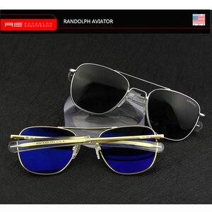 """Image 2 - טייס ארה""""ב. מחדש משקפי שמש גברים למעלה איכות מותג מעצב מזג זכוכית עדשה AO שמש משקפיים זכר YQ1006"""