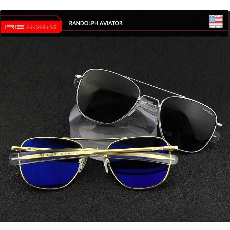 Image 2 - Pilot USA.RE Sunglasses Men Top Quality Brand Designer RANDOLPH AGX Tempered Glass Lens AO Sun Glasses Male YQ1006-in Men's Sunglasses from Apparel Accessories