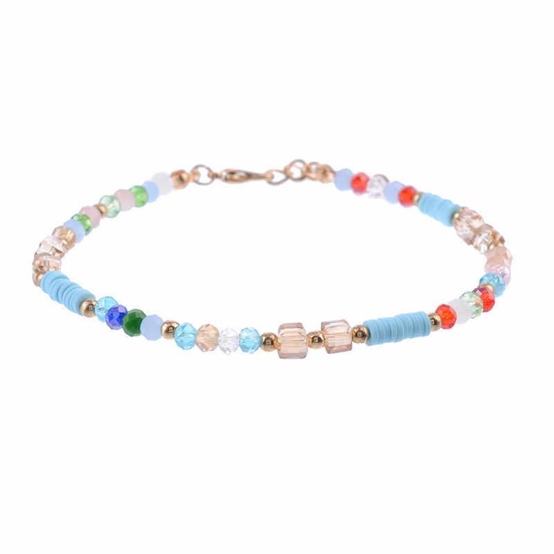 NEWBUY 2019 nowych moda ręcznie robione koraliki obrączki dla kobiet dziewczyna lato plaża biżuteria Boho kolorowe kostki bransoletka Femme Bijoux