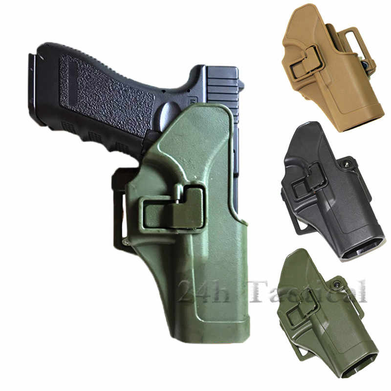 Тактический CQC компактный кобура для ремня, кобура, зарисовка, кобура для правого пистолета, с веслом, поясной ремень для Глок 17, 18, 19, 23, 32
