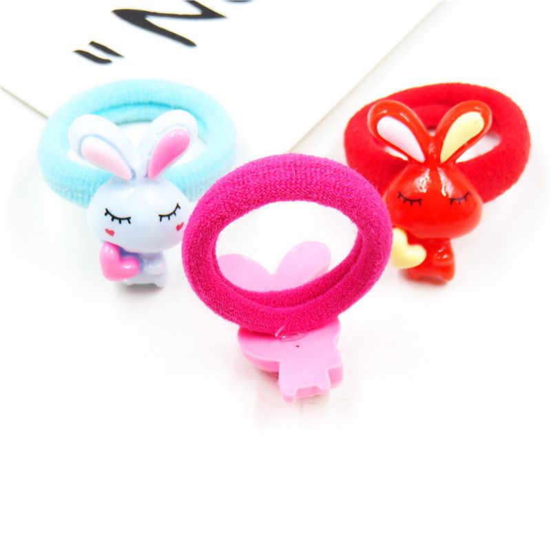 1 шт. кролик любовь твердый бант эластичные резинки для волос Игрушки для девочек ручной работы детская веревка головная повязка резинки аксессуары для волос для детей