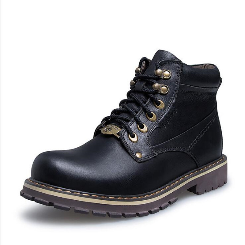 Big Size 38-50 Autumn Winter Men Shoes Warm Leather Men Snow Boots Lace-Up Casual Ankle Boots Motorcycle Boots Martin Boots кронштейн arctic w1a oraeq ma005 gb