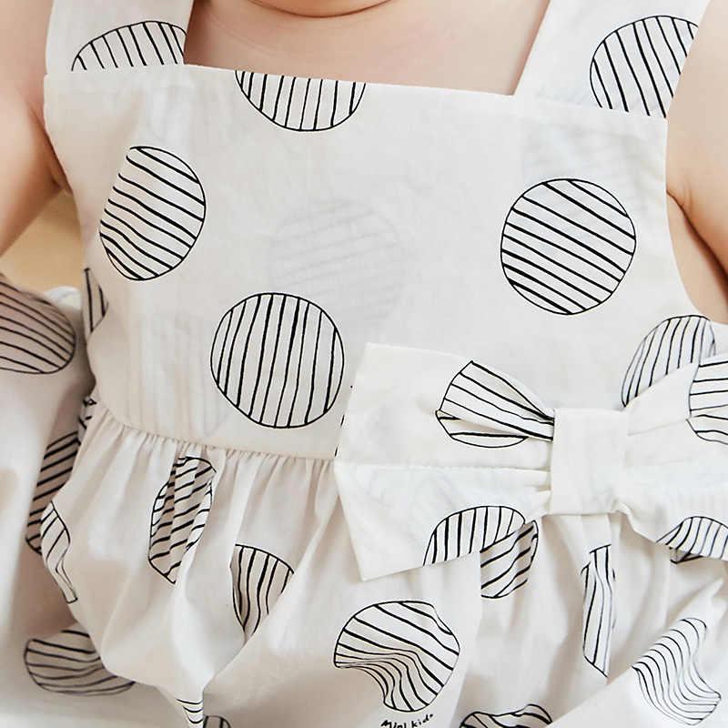 Balabala2019 летнее новое платье на бретелях для маленьких девочек свободное платье с цветочным рисунком для детей