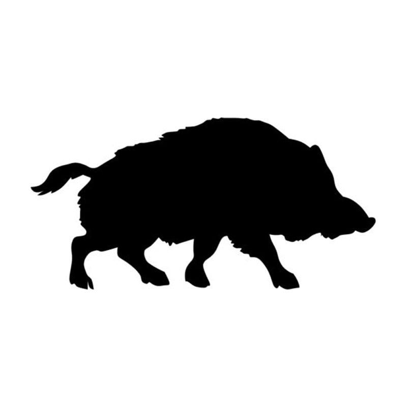 15.2*7.6CM Wild Boar Pig Interesting Vinyl Car Styling Decorative Car Sticker And Decals Black/Silver C9-1894