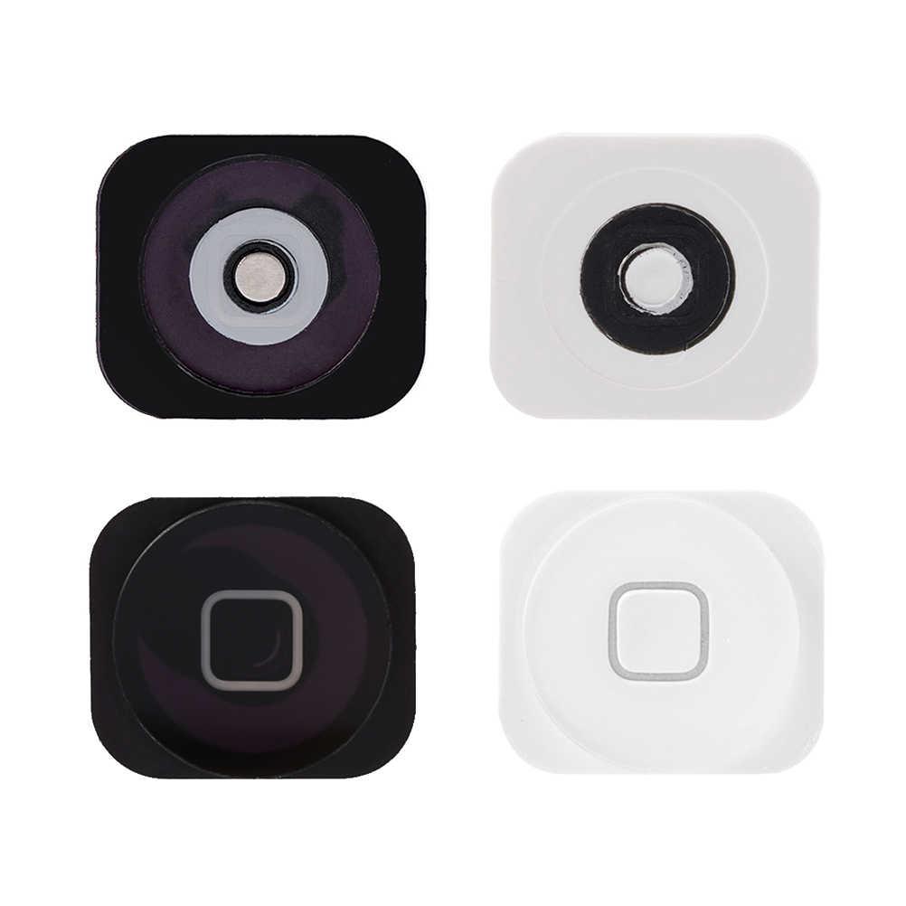 Nowy czarny, biały montaż przycisku home Flex Cable czujnik wstążka kompletne części dla iPhone 5