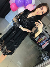 womens quality party lace dress sexy deep v three quarter sleeve black gold china 2017 new wonder women 1902