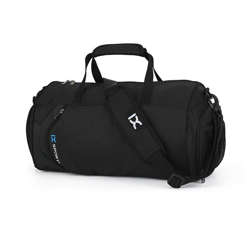 Sac à bandoulière simple décontracté de grande capacité voyage sports séparation humide et sèche fitness sac de yoga chaussures sac de formation