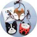 Kawaii Toddler boys girls messenger bags cartoon fox/dog/Ladybug coin purses bags kindergarten babys shoulder/crossbody bags