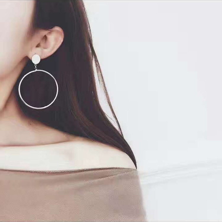 European And American Fashion Earrings For Women Statement Large Geometric Metal Earrings, Women's Pendant Jewelry 2019