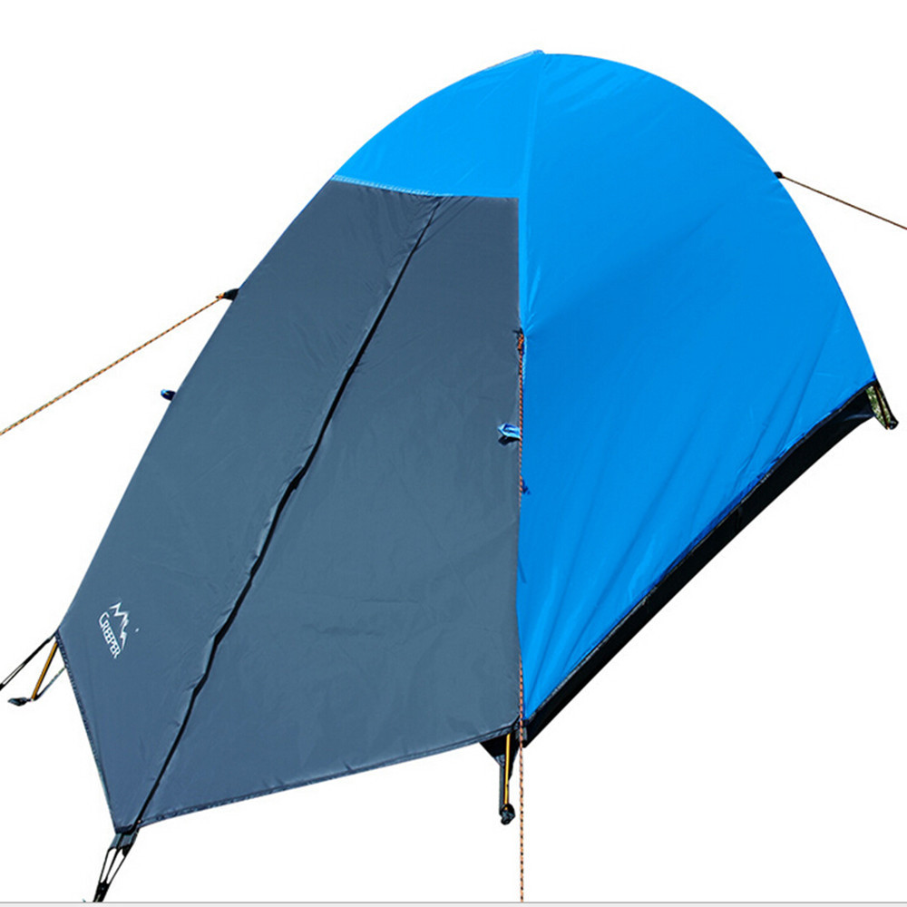 One Person Professional Ultralight Double Layer Camping Beach Tent Hiking Backpacking Trekking Climbing Tourism Waterproof Tente outdoor double layer 10 14 persons camping holiday arbor tent sun canopy canopy tent