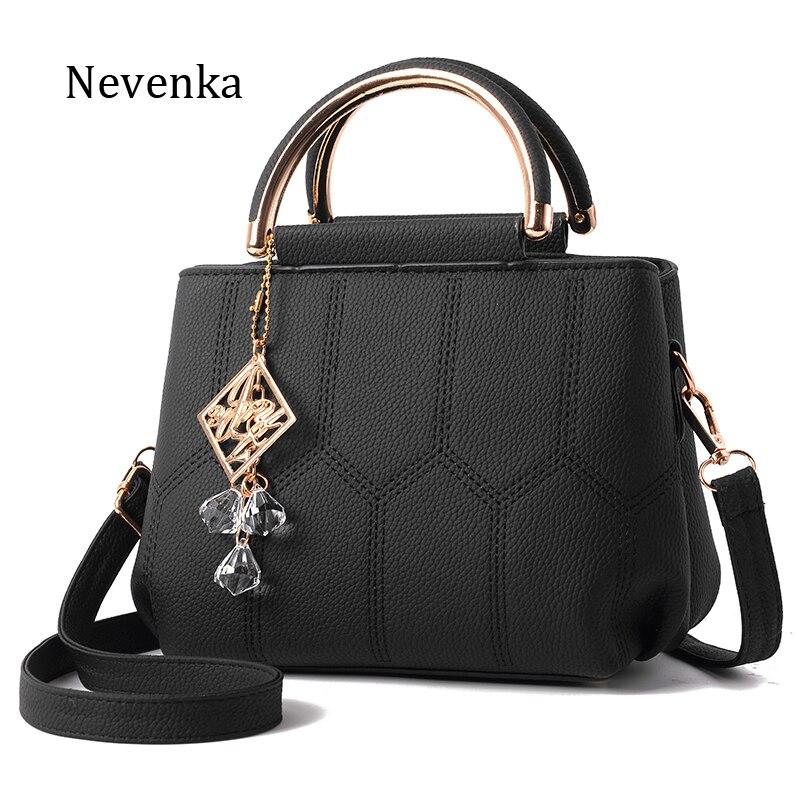 Nevenka Women Handbag Pu Leather High Quality Bag Lady Evening Bags Pendant Female Brand Messenger Bags Original Design Tote Sac nevenka women bag shoulder bag pu