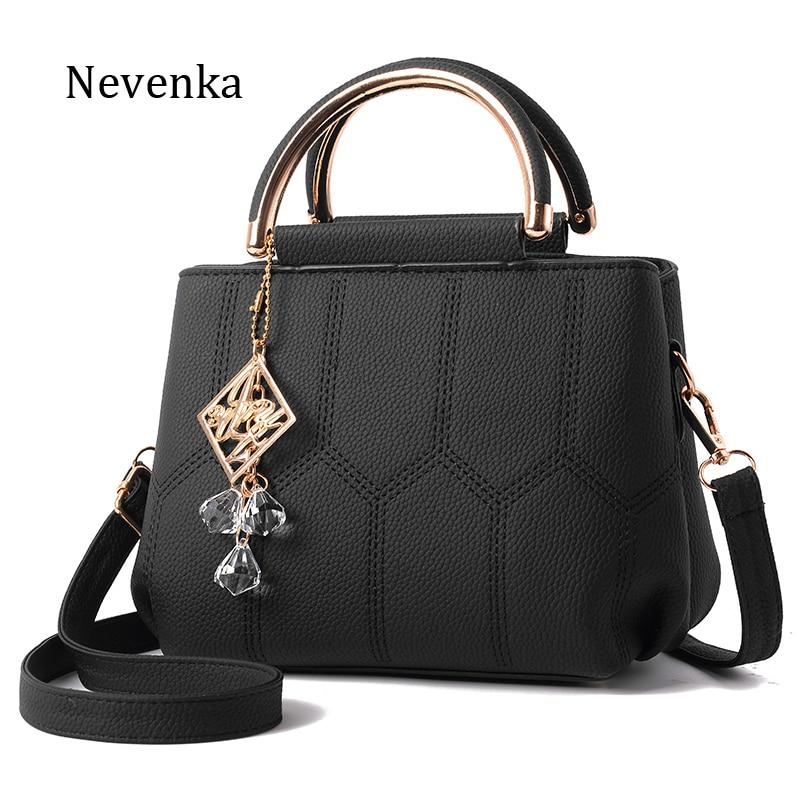 Nevenka Women Handbag Pu Leather High Quality Bag Lady Evening Bags Pendant Female Brand Messenger Bags Original Design Tote Sac