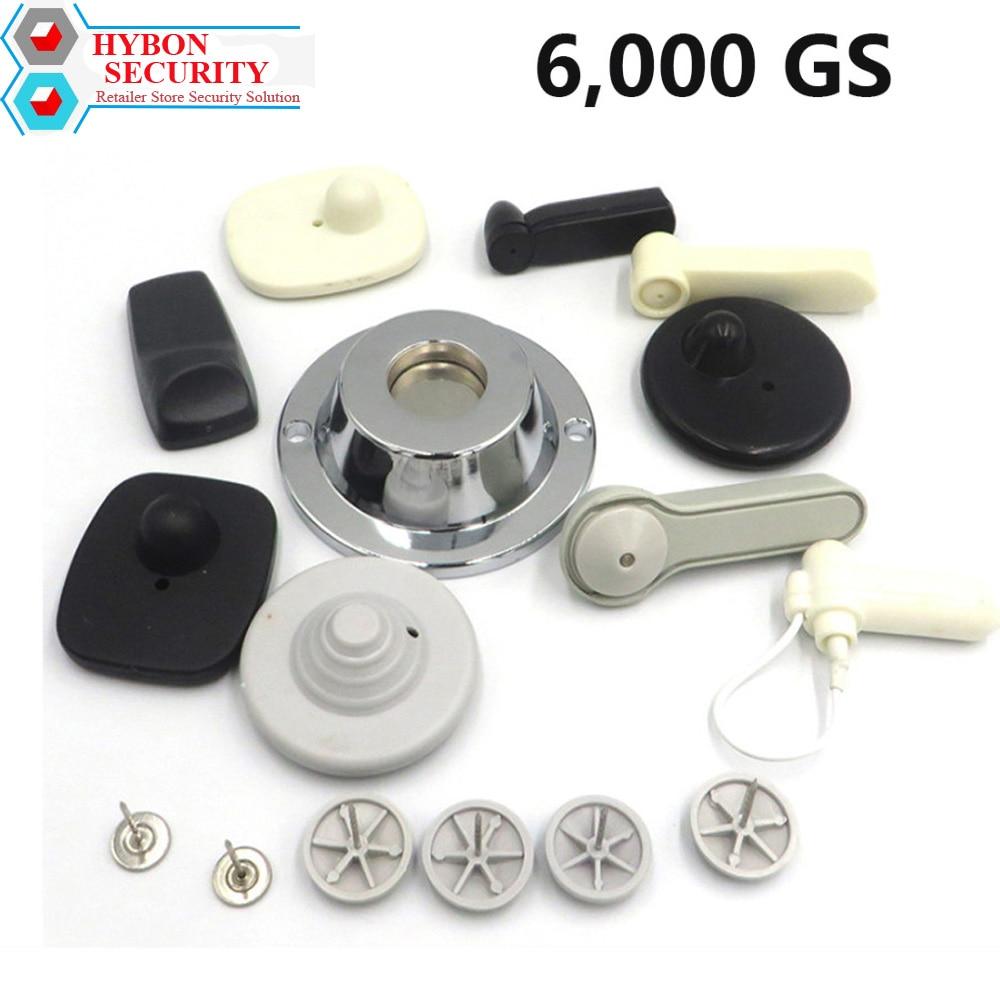 HYBON etiqueta de seguridad EAS del separador 6000gs ropa Alarma magnética sistema EAS del separador del Gancho Alarma imán etiqueta de seguridad removedor
