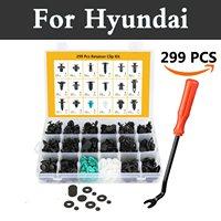 299x Car Plastic Body Push Rivet Clip Fastener Mud Moulding Trim For Hyundai Getz Grandeur I10 I20 I30 I40 Maxcruz Veracruz Xg