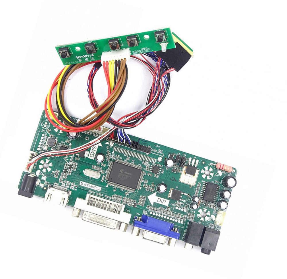 M.NT68676 Hdmi Dvi Vga Led Lcd Controller Board Kit Voor LTN173KT01 / LP173WD1/B173RW01 1600X900 Panel Monitor