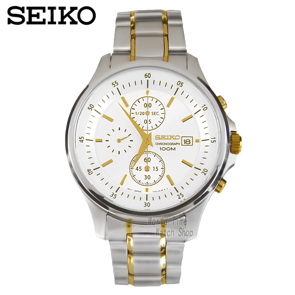 Seiko Watch Premier Series Sapphire Chronograph Quartz Men 's Watch SNDE23P1 seiko premier snq144j1