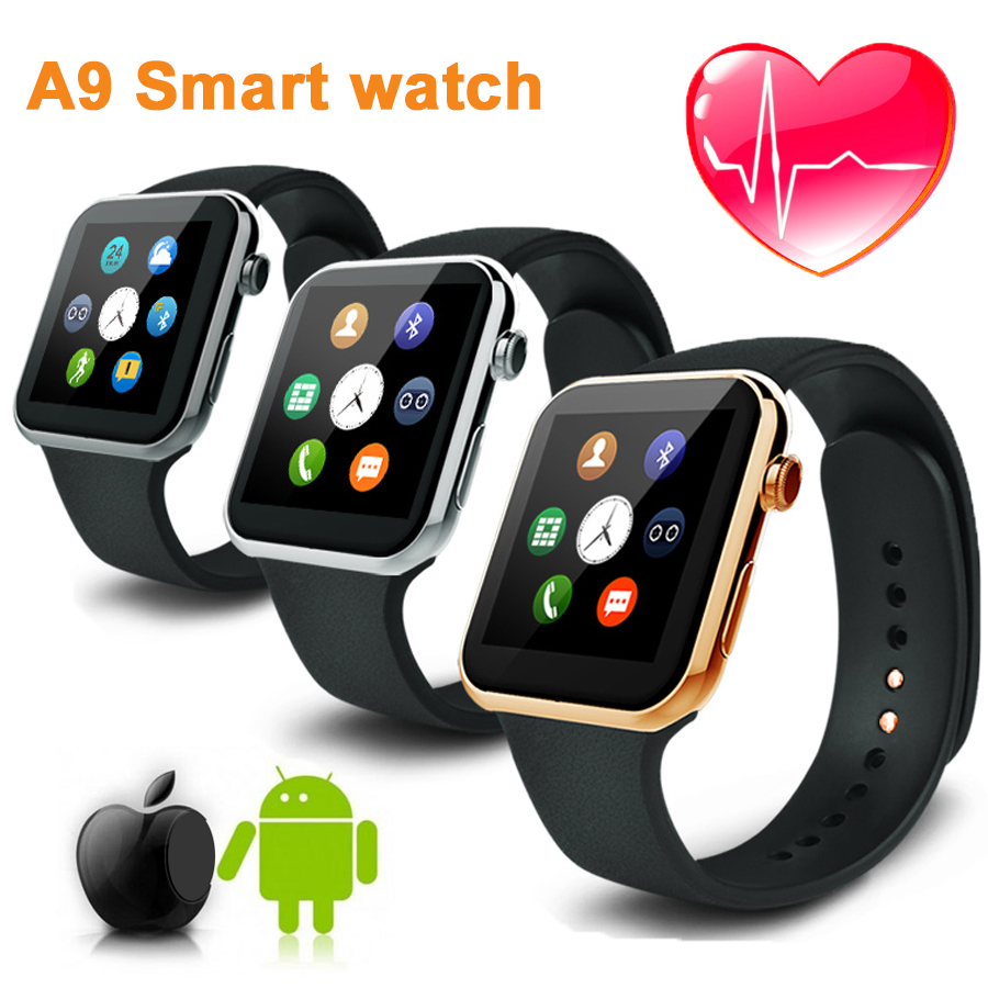 2016 A9 font b Smartwatch b font Wristwatch watch men Bluetooth 4 0 Smart Watches with