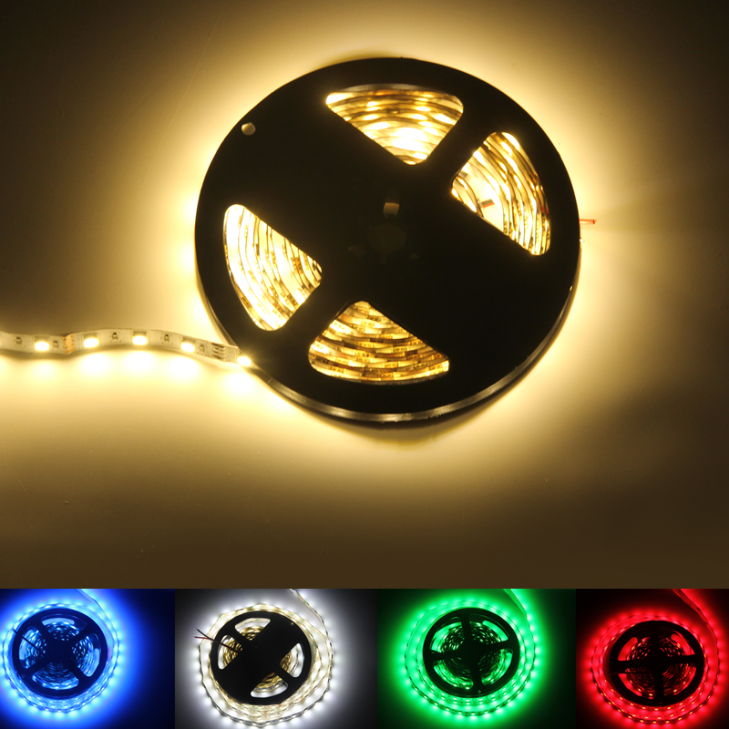LED 20M/50M/100M 5050 SMD Patch Strip Light Project Preferred DC12V/24V White/Red/Green/Blue/RGB IP20/IP65/IP67 Waterproof